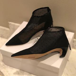 ディオール(Dior)のご専用  新品未使用 dior  ドット柄 ブーツ 春夏(ブーツ)