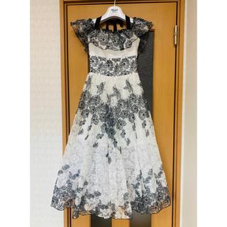 Blugirl - blugirl Blumarine フラワー刺繍オーガンジードレス