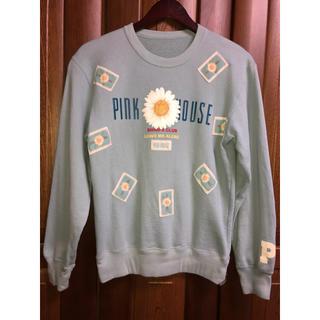 PINK HOUSE - PINKHOUSE マーガレット柄 ワッペン トレーナー M