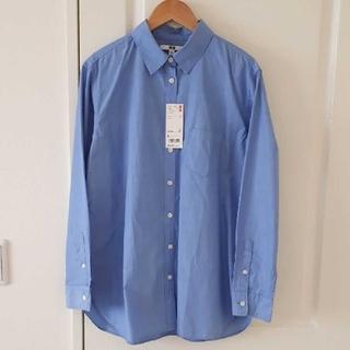 UNIQLO - 【UNIQLO】新品タグ付き エクストラファインコットンシャツ ブルーsizeL