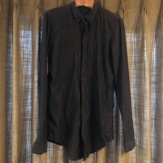 ユリウス(JULIUS)の高級素材使用 ma julius ユリウス キュプラ混 比翼 ドレス長袖シャツ(シャツ)