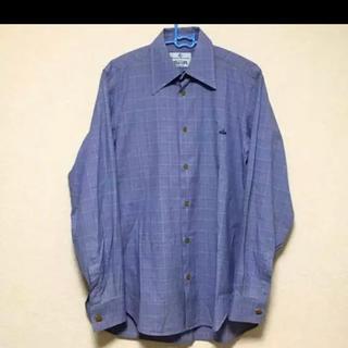 Vivienne Westwood - ストライプシャツ チェックシャツ ブルー