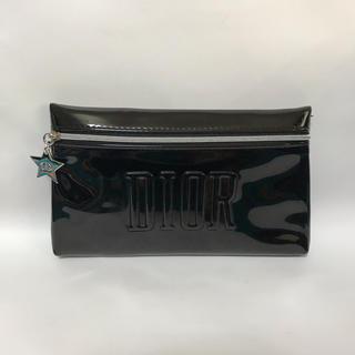 Dior - 未使用 ディオール 星チーム付きエナメル調ポーチ 黒 ブラック DIOR