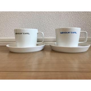 アクタス(ACTUS)の専用!【新品未使用】SOHOLM CAFE☆カップ&ソーサー ペア(グラス/カップ)