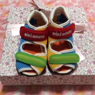 mikihouse - 新品 ミキハウス ダブルラッセル サンダル 靴 7776円