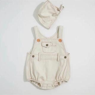 babyGAP - デニムサロペット ボンネットセット