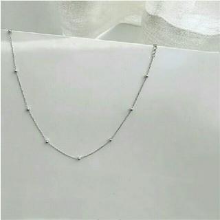 アダムエロぺ(Adam et Rope')のインポート silver 925 dot necklace #297(ネックレス)