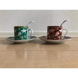 【新品】古伊万里☆ペアコーヒーカップセット(グラス/カップ)