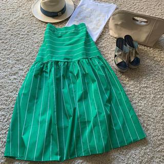 ブリスポイント(BLISS POINT)の★新品未使用★ グリーンスカート グリーンのスカート(ロングスカート)