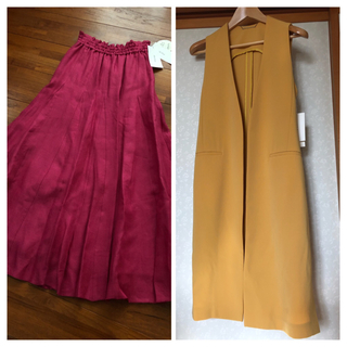 Mila Owen - 《新品タグ付き》ミラオーウェン リネン100% パネルロングスカート