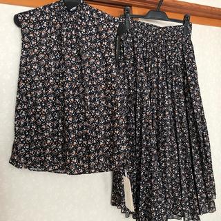 ミラオーウェン(Mila Owen)の《新品タグ付き》ミラオーウェン フロントプリーツデザインスカート(ロングスカート)