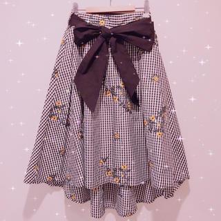 GRL - ♡ GRL 花柄ギンガムチェックスカート ♡