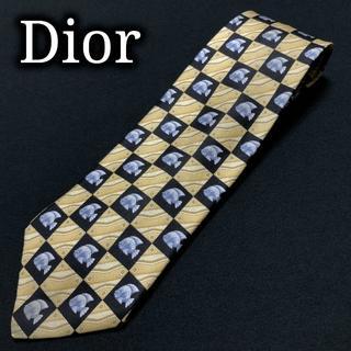 ディオール(Dior)のディオール フィッシュスクエア オーカー&ブラック ネクタイ A102-Z15(ネクタイ)