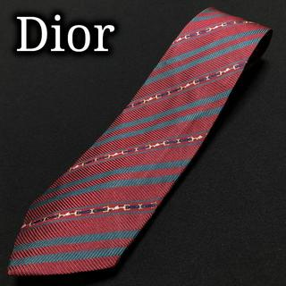 ディオール(Dior)のディオール 金具レジメンタル ワインレッド ネクタイ A102-Z19(ネクタイ)