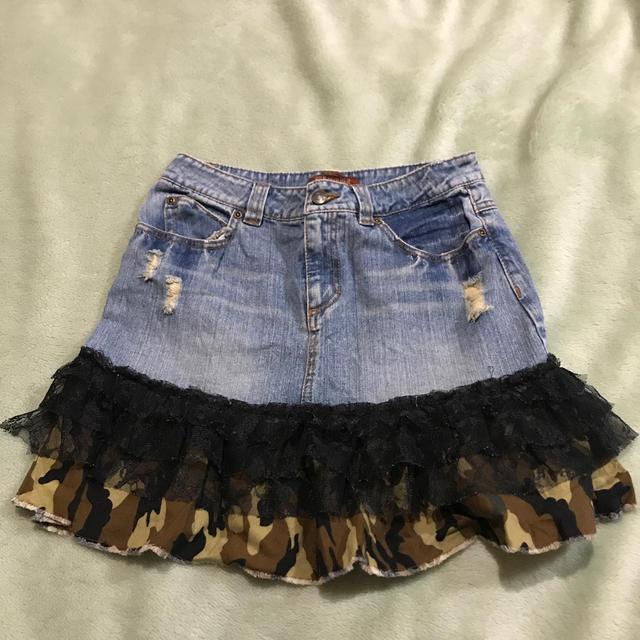 可愛い💕デニムミニスカート✨中古美品✨送料無料✨ レディースのスカート(ミニスカート)の商品写真