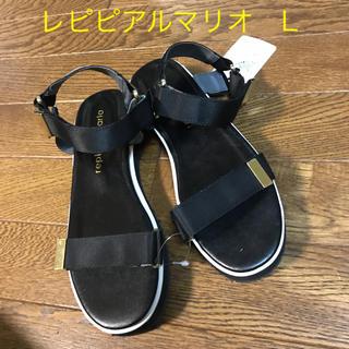 repipi armario - 新品/レピピアルマリオ/ガールズ スポーツサンダル/ブラック/L