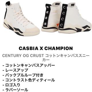 チャンピオン(Champion)のcasbia  x champion キャンバススニーカー 新品(スニーカー)