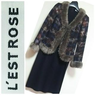 L'EST ROSE - ⭐️L'EST ROSE⭐️レストローズ⭐️フェイクファー薔薇柄ジャケット