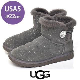 アグ(UGG)のアグ ビジュボタン ショートブーツ USA5(約22cm)(ブーツ)