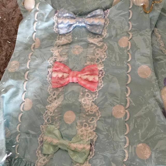 Angelic Pretty(アンジェリックプリティー)の値下げ 新品未使用 Angelic Pretty マシュマロバニーサロペット レディースのワンピース(ミニワンピース)の商品写真