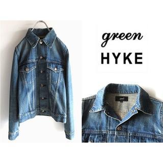ハイク(HYKE)の希少 green(現HYKE) TYPE3 ビンテージ加工デニムジャケット(Gジャン/デニムジャケット)