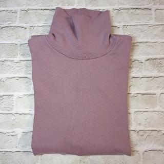 ジーユー(GU)のXLサイズ タートルネックT LIGHT PURPLE【送料無料】(Tシャツ(長袖/七分))