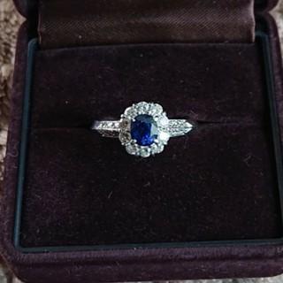 プラチナ サファイア ダイヤモンドリング(リング(指輪))
