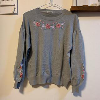HONEYS - ハニーズ バルーン袖 刺繍ニット セーター Mサイズ