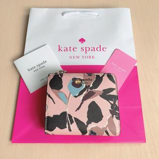 kate spade new york - 【新品】最新作★ ケイトスペード  二つ折り財布 フローラル  ピンク