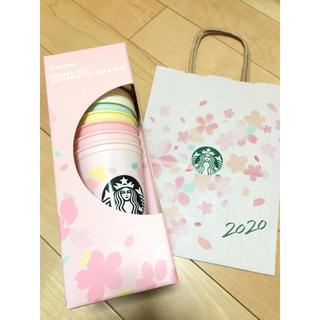 スターバックスコーヒー(Starbucks Coffee)のスターバックス リユーザブルカップ コットンバッグ サクラ 2020(コーヒー)