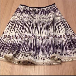 ロペ(ROPE)の美品 ROPE レースが可愛い上品春スカート(ひざ丈スカート)