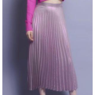 リルリリー(lilLilly)の【lillilly】 メタリックプリーツスカート(ロングスカート)