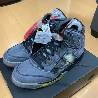 NIKE - air jordan5 off-white 27.5