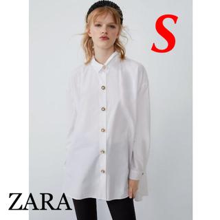 ZARA - 新品 完売品 ZARA S オーバーサイズ ビジュー ボタン シャツ