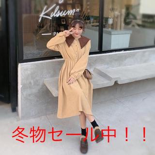 【大人気商品♪】 レトロ ★ガーリー ロングワンピース ♪(ひざ丈ワンピース)