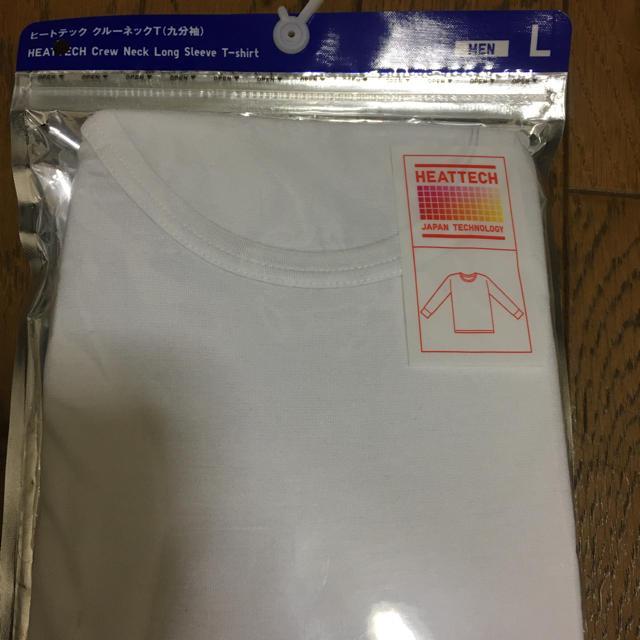 UNIQLO(ユニクロ)のユニクロ ヒートテック クールネックT(9分袖) L ホワイト MEN    メンズのトップス(Tシャツ/カットソー(七分/長袖))の商品写真