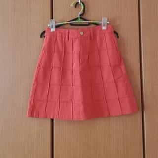 オレンジのスカート(ミニスカート)