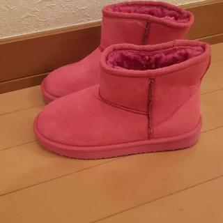 ピンクUGG風ムートンブーツ 22~22.5センチ(ブーツ)