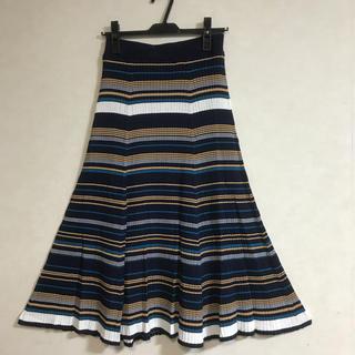 SCOT CLUB - 新品!スコットクラブ Aga 春夏リブニットマルチボーダースカート 14000円