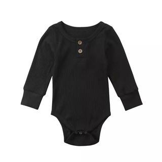 babyGAP - 新作 ヘンリーネック ベビーロンパース オールインワン 黒色 赤ちゃん