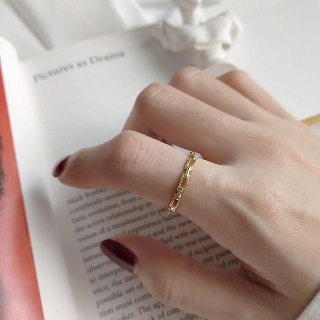 Ungrid(アングリッド)のsilver925チェーンリング レディースのアクセサリー(リング(指輪))の商品写真