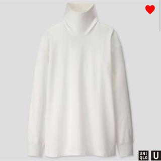 ユニクロ(UNIQLO)のユニクロU ユニクロ ユー タートルネックTシャツ ハイネック ホワイト XXL(Tシャツ/カットソー(七分/長袖))