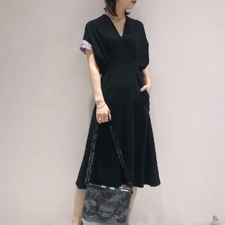 mame - mame 刺繍袖半袖ワンピース