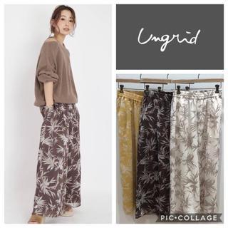 Ungrid - Ungrid**リーフ柄ワイドパンツ