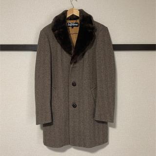 Supreme - Supreme 15aw fur collar ツイード チェスターコート S