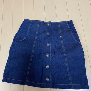 ヘザー(heather)のデニムスカート(ひざ丈スカート)