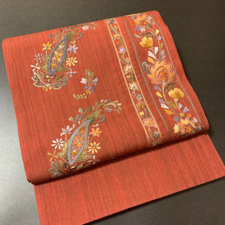 ⭐︎正絹手織刺繍袋帯⭐︎お太鼓柄⭐︎