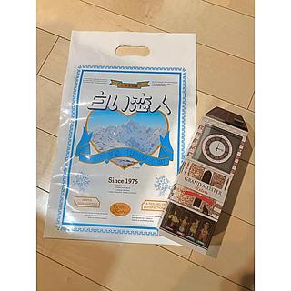 イシヤセイカ(石屋製菓)の白い恋人 ショップバック お菓子 空き箱(ショップ袋)