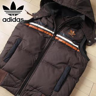 adidas - adidas 90's Mサイズ レディース ダウンベスト ブラウン