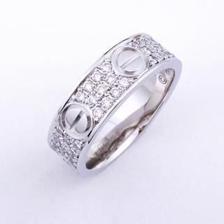 カルティエ(Cartier)のらいおん様 専用 カルティエ ラブリング  WG ダイヤ #58(リング(指輪))